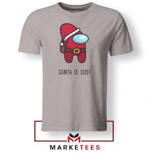Santa Is Sus Game Sport Grey Tshirt