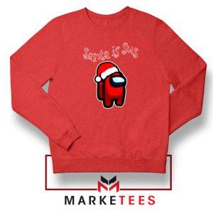 Santa Is Sus Red Sweatshirt