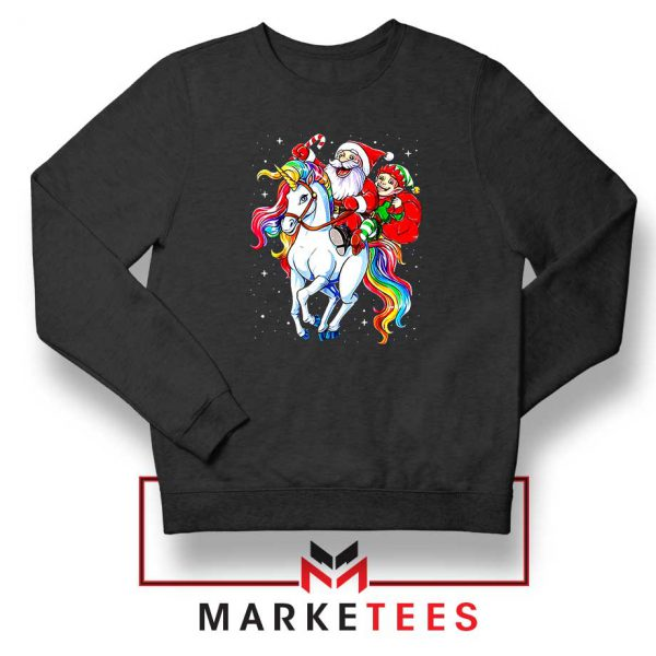 Santa Riding Unicorn Sweatshirt