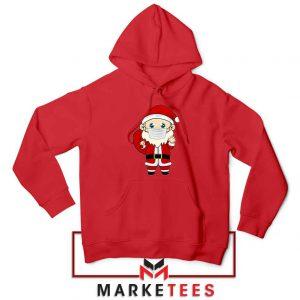 Santa With Mask Red Hoodie