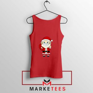 Santa With Mask Red Tank Top
