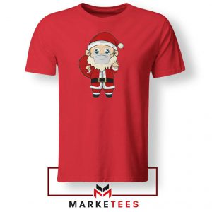 Santa With Mask Red Tshirt