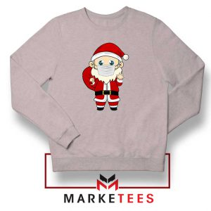 Santa With Mask Sport Grey Sweatshirt