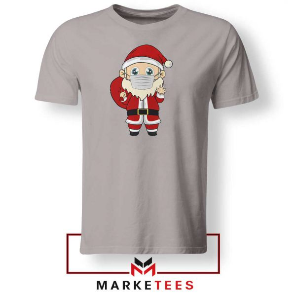 Santa With Mask Sport Grey Tshirt