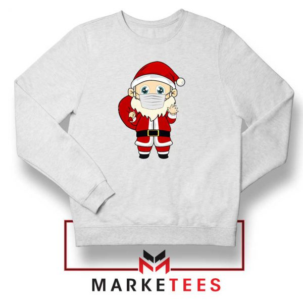 Santa With Mask Sweatshirt