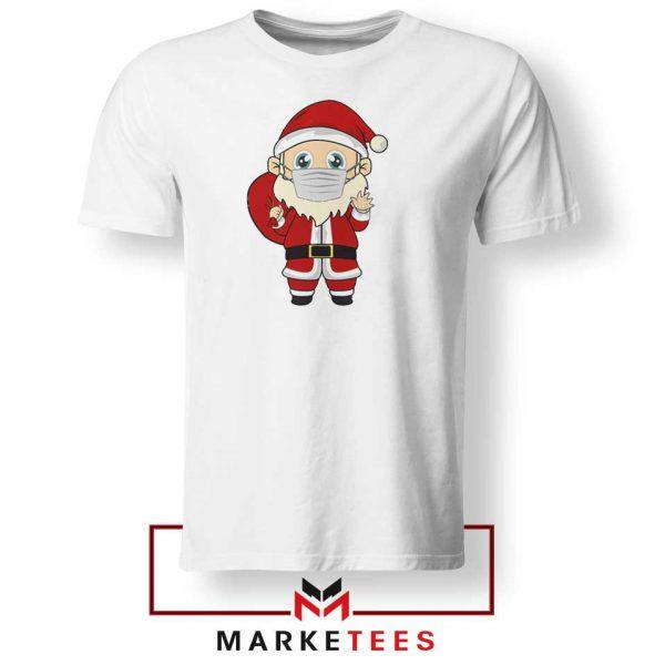 Santa With Mask Tshirt
