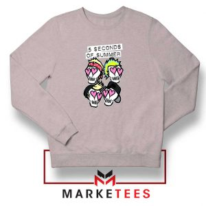 Skull Band 5SOS Sport Grey Sweatshirt