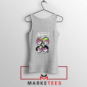 Skull Band 5SOS Sport Grey Tank Top
