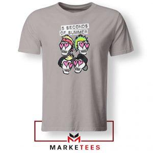 Skull Band 5SOS Sport Grey Tshirt