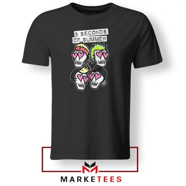 Skull Band 5SOS Tshirt
