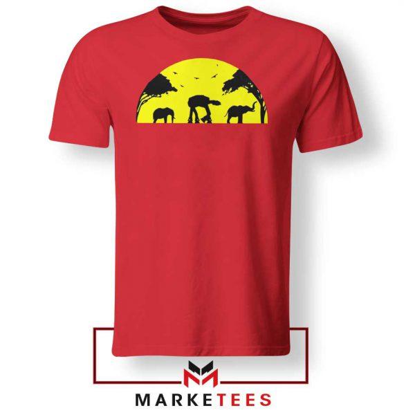 Star Wars Elephant Empire Red Tshirt
