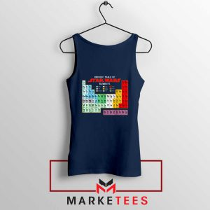 Star Wars Periodic Table Navy Blue Tank Top
