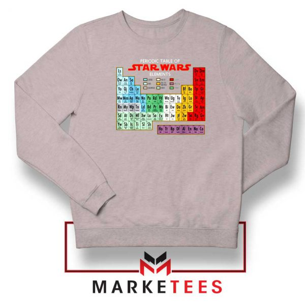 Star Wars Periodic Table Sport Grey Sweatshirt