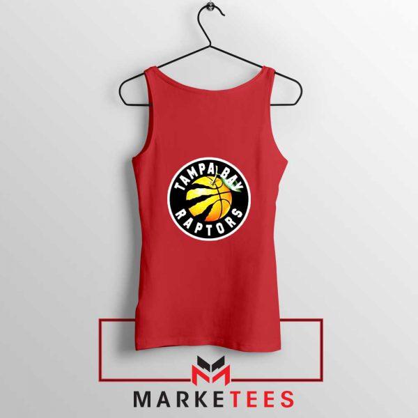 Tampa Bay Raptors Team Red Tank Top