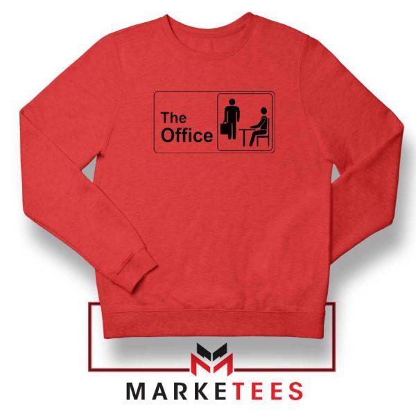The Office Logo Movie Red Sweatshirt
