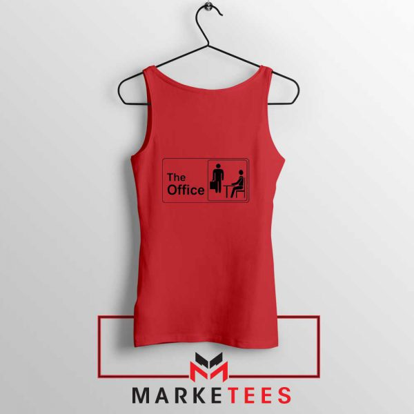 The Office Logo Movie Red Tank Top