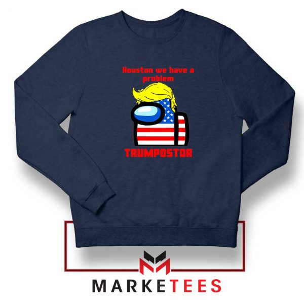 Trumpostor Navy Blue Sweatshirt