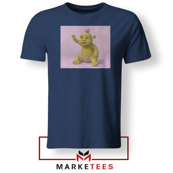 Baby Shrek Navy Blue Tshirt