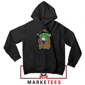 Babyyoda Bubble Tea Black Hoodie