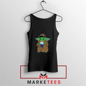 Babyyoda Bubble Tea Black Tank Top