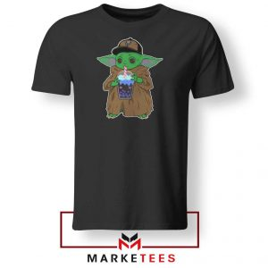 Babyyoda Bubble Tea Black Tshirt