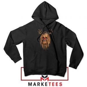 Chewbacca Reindeer Black Hoodie