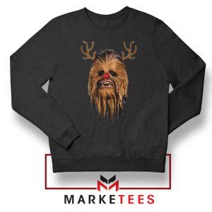 Chewbacca Reindeer Black Sweatshirt