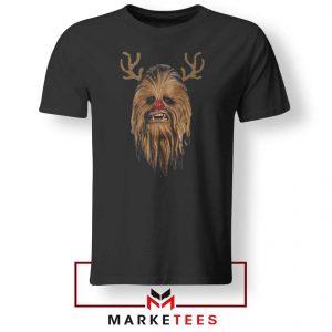 Chewbacca Reindeer Black Tshirt