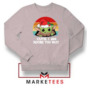Christmas Grogu Sport Grey Sweatshirt