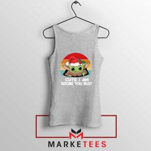 Christmas Grogu Sport Grey Tank Top