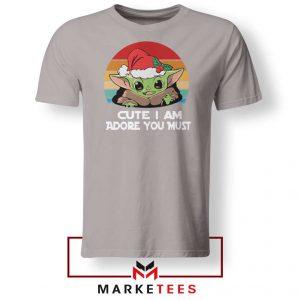 Christmas Grogu Sport Grey Tshirt