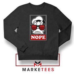 Donald Duck Nope Black Sweatshirt