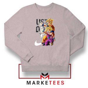 Dragon Ball Just Do It Sport Grey Sweatshirt