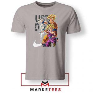 Dragon Ball Just Do It Sport Grey Tshirt