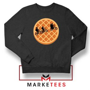 Eggo Moon Horror Black Sweatshirt