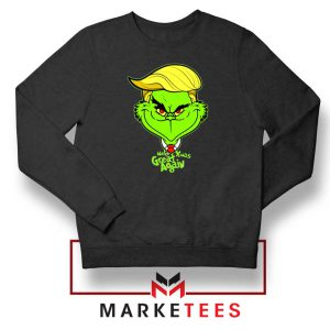 Grinch Trump Black Sweatshirt