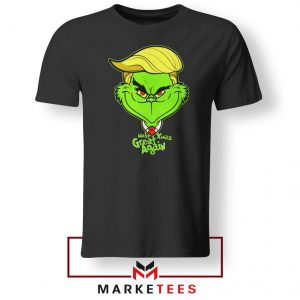 Grinch Trump Black Tshirt