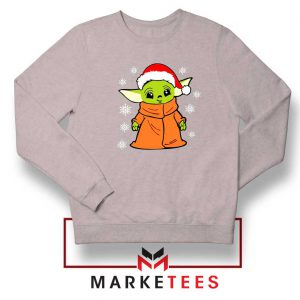 Grogu Chrismast Snow Sport Grey Sweatshirt