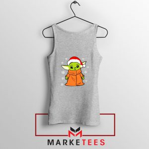 Grogu Chrismast Snow Sport Grey Tank Top