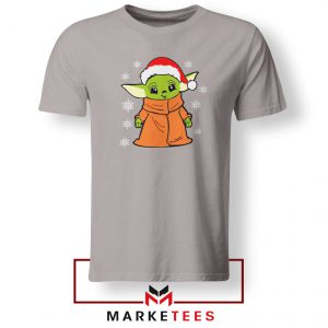 Grogu Chrismast Snow Sport Grey Tshirt