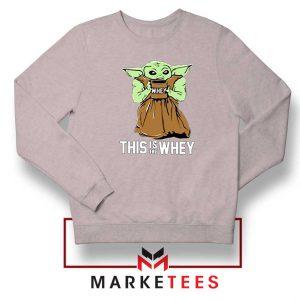 Grogu Gym Sport Grey Sweatshirt