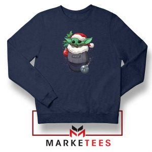 Grogu Stocking Stuffer Navy Blue Sweatshirt