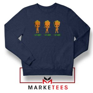 I Am Groot Navy Blue Sweatshirt