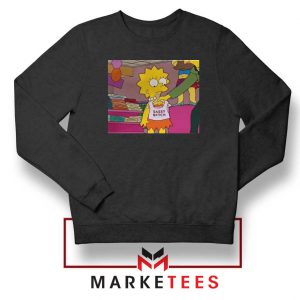 Lisa Simpson Sassy Black Sweatshirt