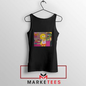 Lisa Simpson Sassy Black Tank Top