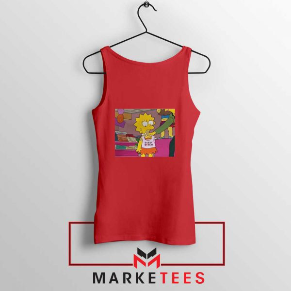 Lisa Simpson Sassy REd Tank Top