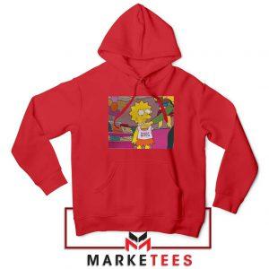 Lisa Simpson Sassy Red Hoodie