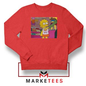 Lisa Simpson Sassy Red Sweatshirt