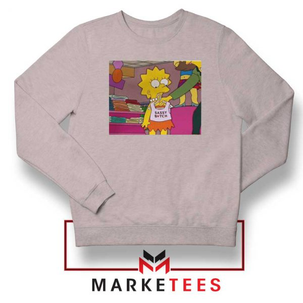 Lisa Simpson Sassy Sport Grey Sweatshirt
