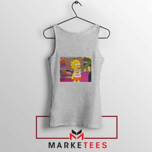 Lisa Simpson Sassy Sport Grey Tank Top